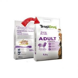 TROPIDOG PREMIUM ADULT SMALL BREEDS- LAMB& RICE 2,5kg