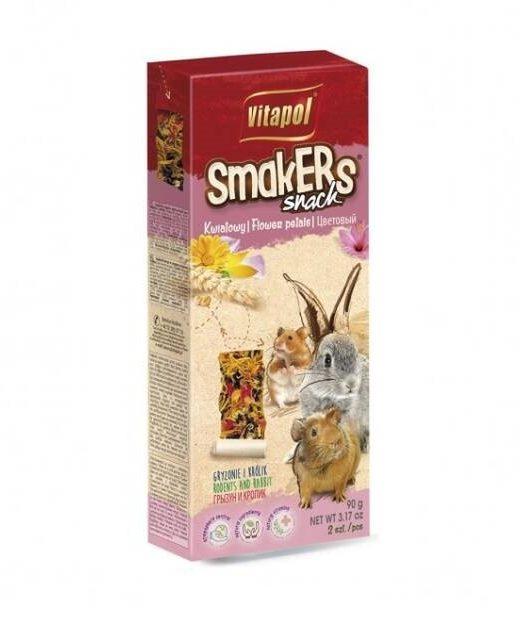 Smakers kwiatowy dla gryzoni i królika 80g/2szt.