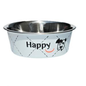 Miska metalowa Zolux Happy Biała