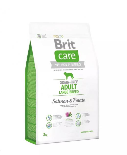 BRIT Care ADULT LARGE Salmon&Potato 3kg