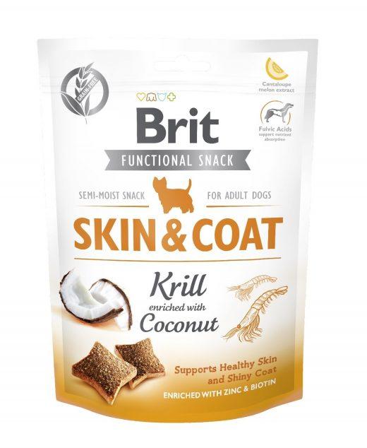 BRIT CARE DOG FUNCTIONAL SNACK SKIN&COAT KRILL150G