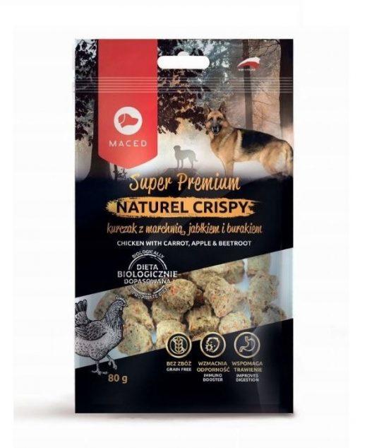 MACED NATUREL Crispy przysmak dla psa z kurczakiem, marchewką, jabłkiem i burakiem 80g
