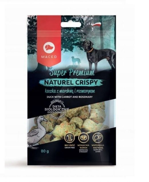 MACED NATUREL Crispy przysmak dla psa z kaczką, marchewką i rozmarynem 80g