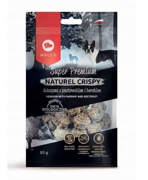 MACED NATUREL Crispy przysmak dla psa z dziczyzną i pasternakiem 80g
