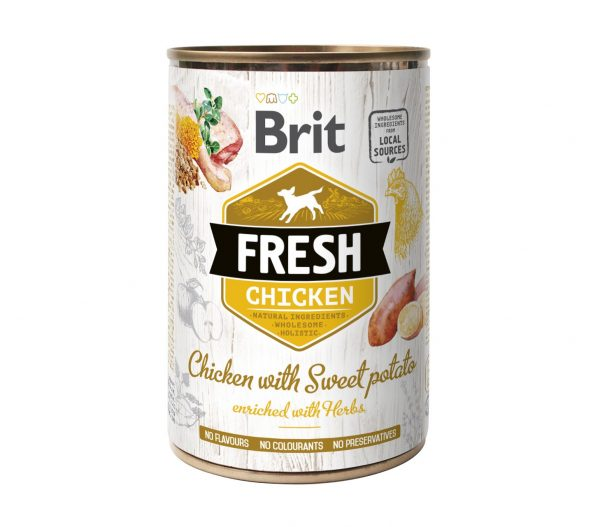 BRIT FRESH CHICKEN&SWEET POTATO 400g