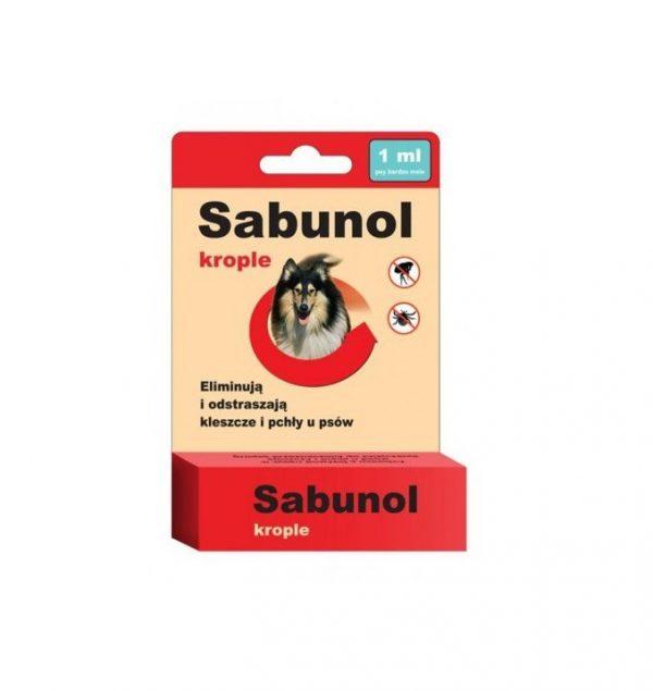 Sabunol krople przeciw pchłom i kleszczom dla psa 1 ml