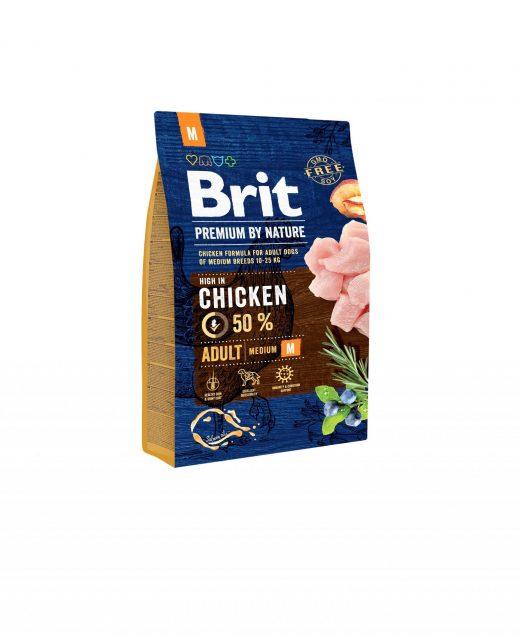 Brit Premium By Nature Chicken Adult M 3kg