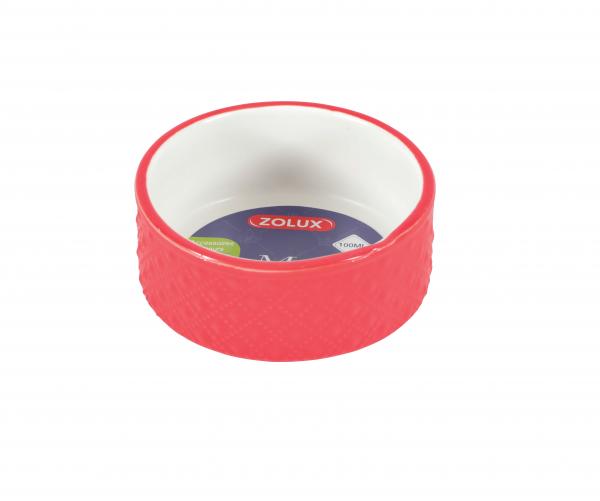 ZOLUX Miska ceramiczna MARGOT 100 ml CZERWONA