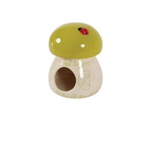 Domek ceramiczny Grzybek zielony