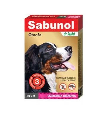 Sabunol - Obroża ozdobna różowa 50cm