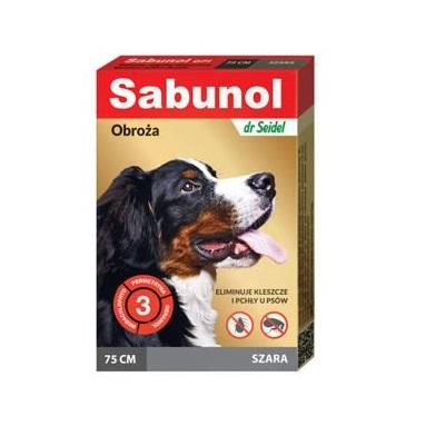 Sabunol szara obroża przeciw pchłom i kleszczom dla psa 75 cm