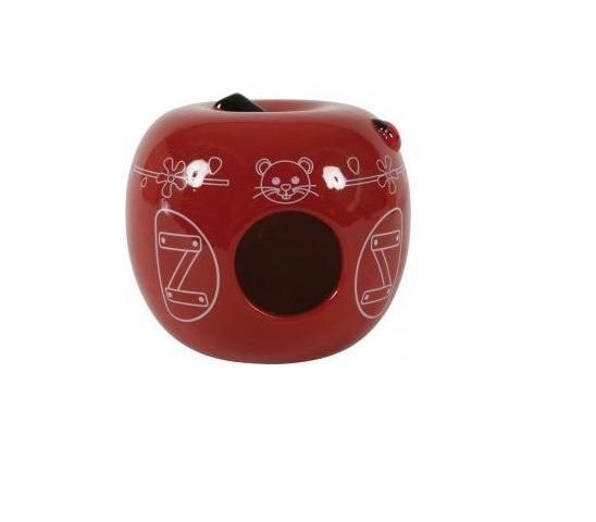 Domek ceramiczny Jabłko czerwony