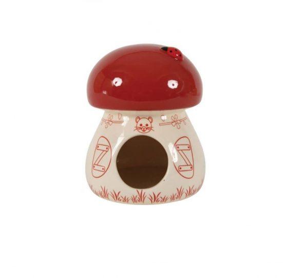Domek ceramiczny Grzybek czerwony
