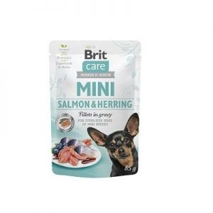 BRIT CARE MINI POUCH SALMON & HERRING STERILISED 85g