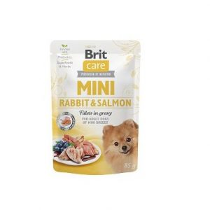 BRIT CARE MINI POUCH RABBIT & SALMON 85g