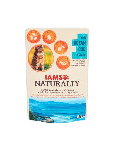 Iams Naturally Kot z oceanicznym dorszem w sosie 85g
