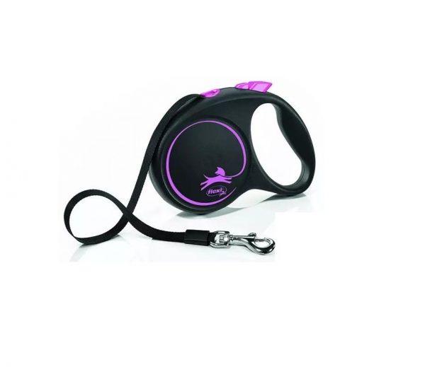 Flexi Black Design Taśma M 5m Czarno-różowa