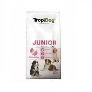 TropiDog Premium Junior Large Turkey&Rice 12kg