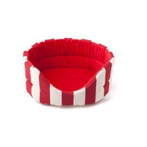 Comfy legowisko Marina czerwono-białe