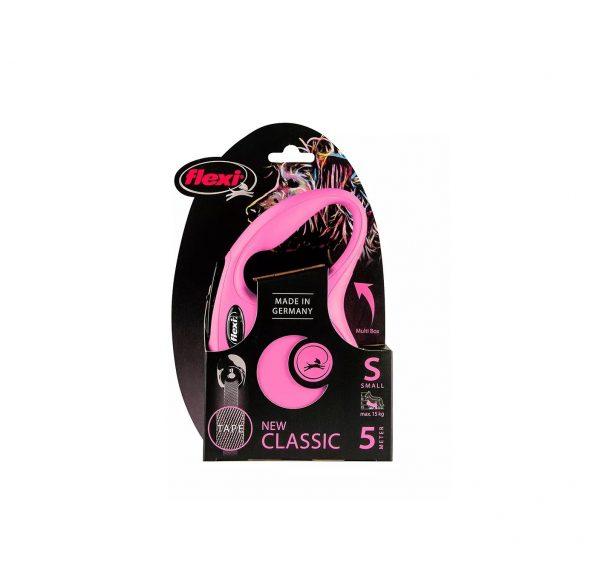 Flexi New Classic Taśma S 5m Różowa