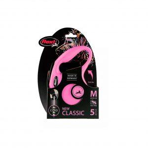 Flexi New Classic Linka M 5m Różowa