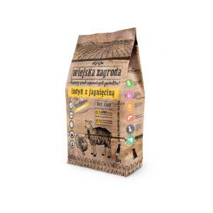 Wiejska Zagroda indyk z jagnięciną dla psa 2kg