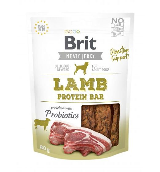 Brit Jerky Snack Lamb Protein Bar 80g
