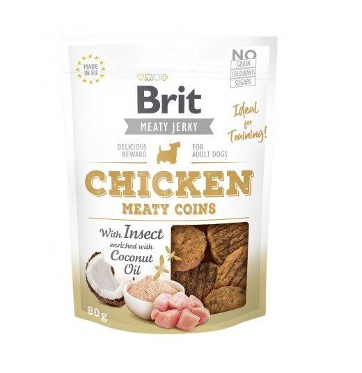 Brit Jerky Chicken Meaty Coins 80g