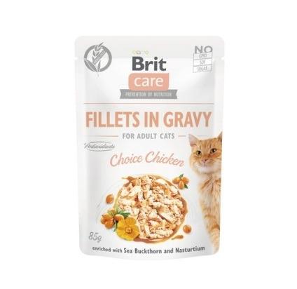 Brit Care Cat Filety w sosie z kurczakiem 85g