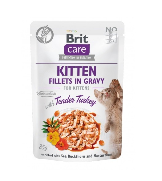 Brit Care Cat Kitten Filety z indyka w sosie 85g