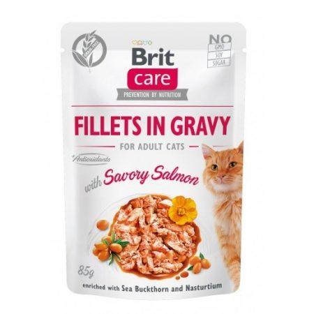 Brit Care Cat Filety z łososia w sosie 85g