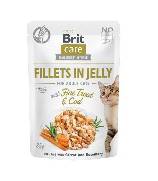 Brit Care Cat Filety z pstrąga i dorsza w galarecie 85g