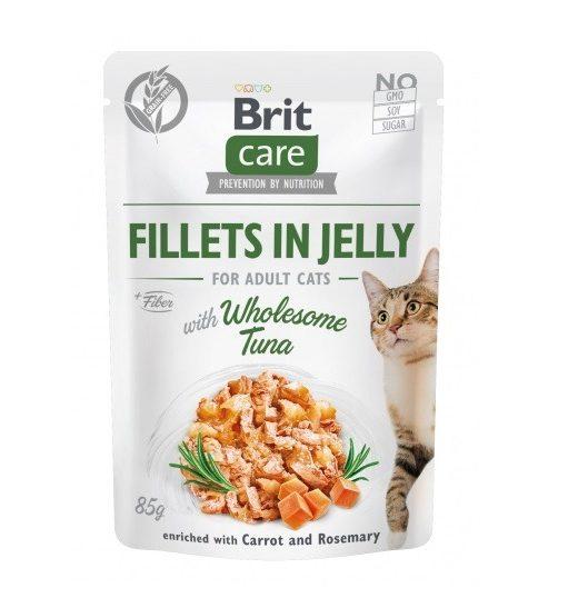 Brit Care Cat Filety z tuńczyka w galarecie 85g