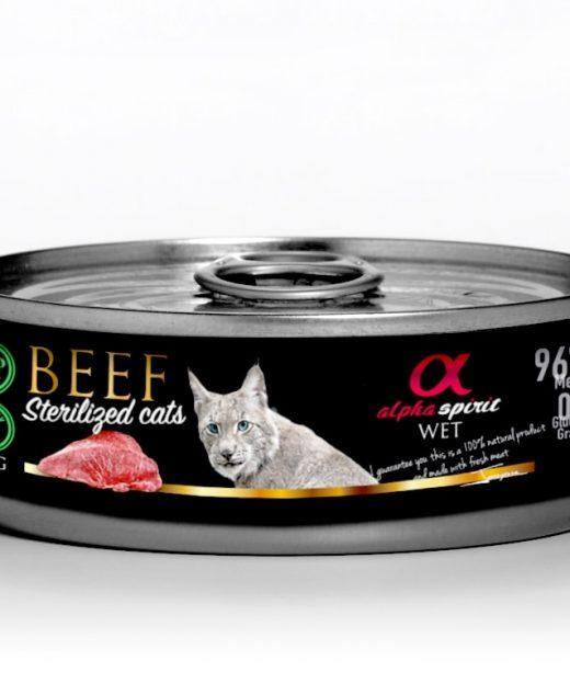 Alpha Spirit Wołowina dla kotów sterylizowanych 85g