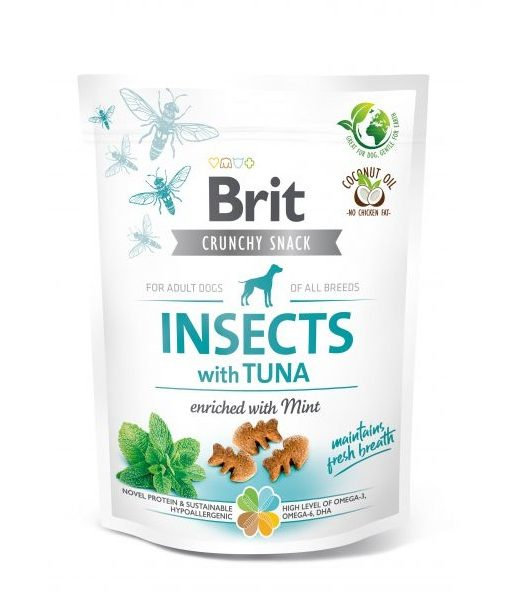 Brit Crunchy Snack Insects&Tuna&Mint 200g