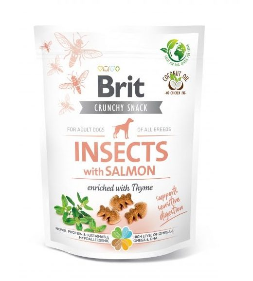 Brit Crunchy Snack Insects&Salmon&Thyme 200g