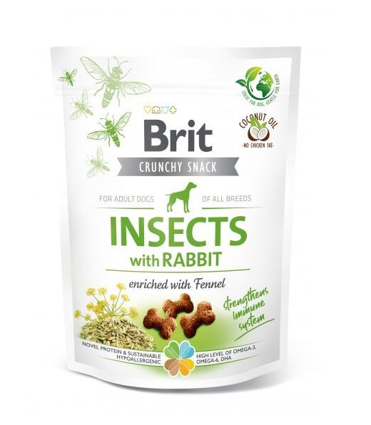 Brit Crunchy Snack Insects&Rabbit&Fennel 200g