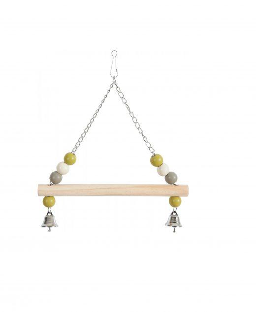 ZOLUX Huśtawka z drewnianą żerdką i dzwoneczkami