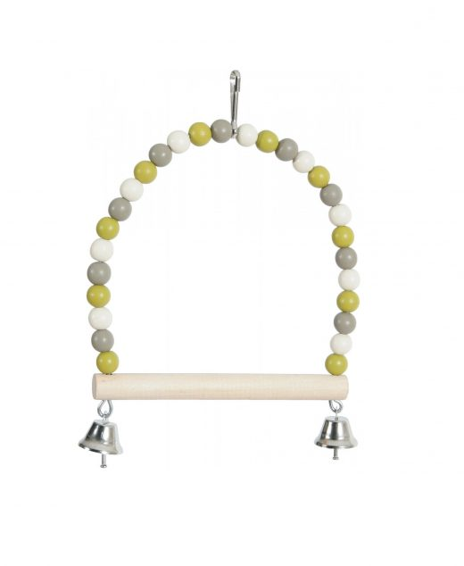 ZOLUX Huśtawka perła z drewnianą żerdką i dzwoneczkami