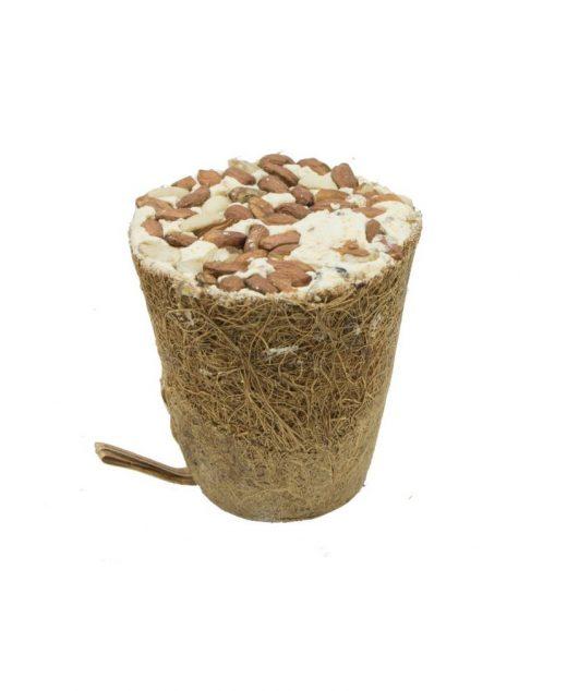 Dzwonek z włókna kokosowego z karmą tłuszczową dla ptaków 250 g